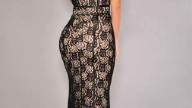 Black-Lace-Nude-Illusion-Mesh-Accent-Gown-LC6706-18560